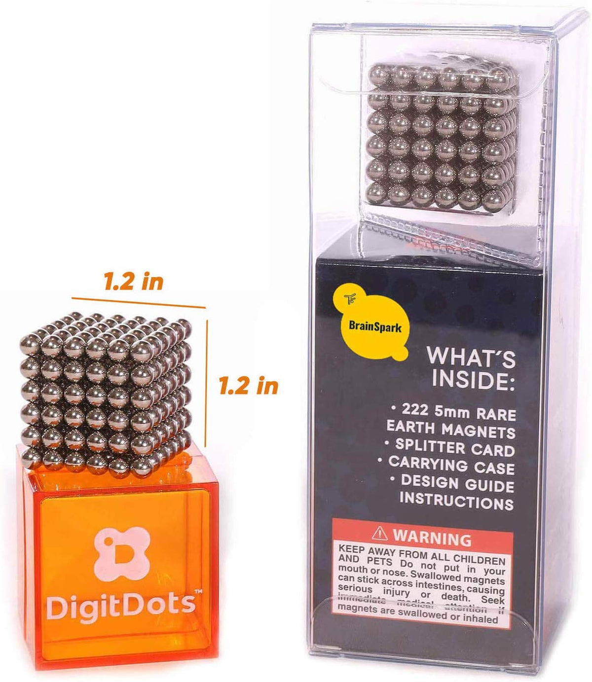 222 Pcs 5mm DigitDots Magnetic Balls