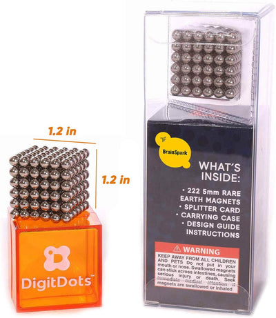 BrainSpark DigitDots 222 Pieces 5mm Magnetic Balls