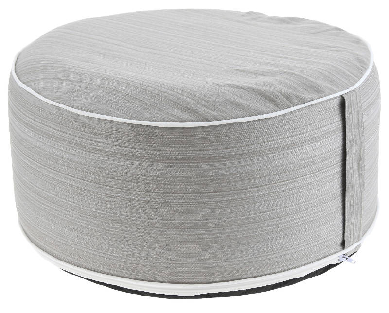Pouf beige inflable & Funda lavable