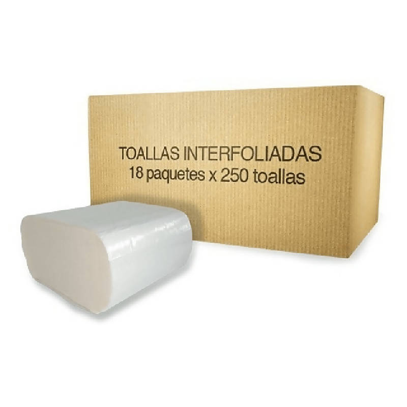 Toalla Interfoliada 250 Unidades 18 Fardos Hoja Simple