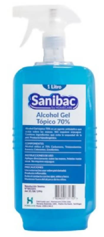 Alcohol Gel 70% 1 Litro en pack de 6 unidades