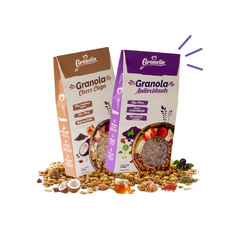 Pack Duo 400g Granola Antioxidante + Choco Chips