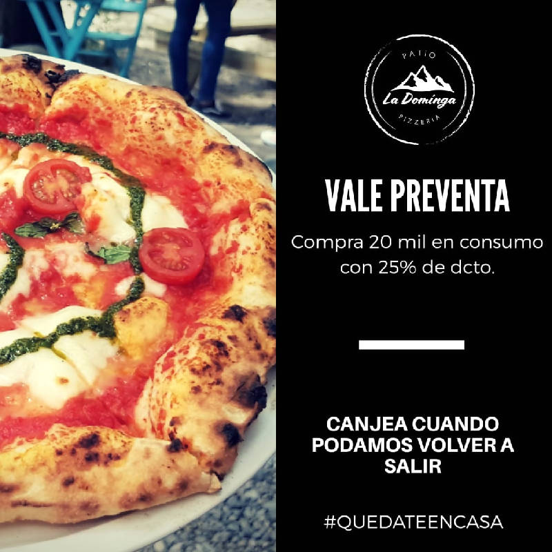 Vale PreVenta por $20.000 en Patio La Dominga