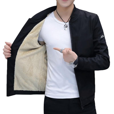Men's Fashion Zippered Jacket