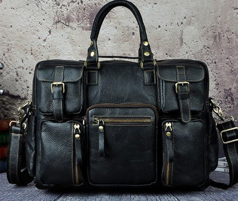 BrandedMale® Original Leather Briefcase