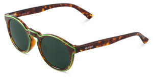 CONTOUR LIME/CHEETAH TORTOISE JORDAAN WITH CLASSICAL LENSES Mr Boho