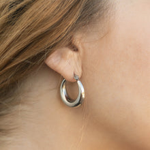 Load image into Gallery viewer, enna 23mm silver hoops