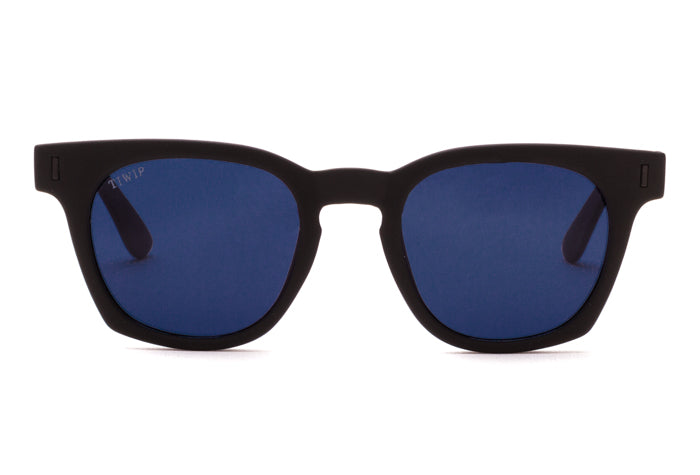 TIWI GRASSE RUBBER BLACK WITH CLASSIC POLARIZED BLUE LENSES