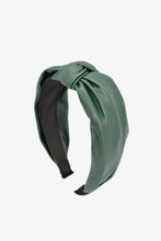 Load image into Gallery viewer, green leather headband