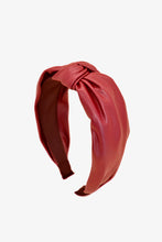 Load image into Gallery viewer, red leather headband