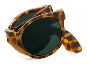 HIGH CONTRAST TORTOISE FOLDABLE JORDAAN W/ CLASSICAL LENSES Mr Boho