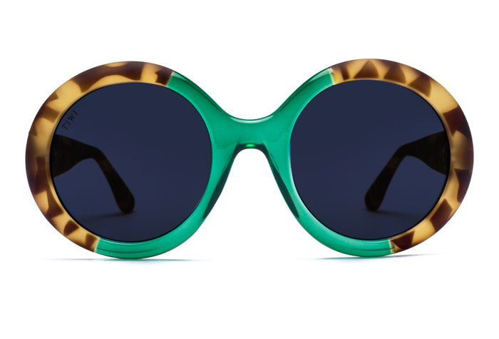 TIWI LISSA RUBBER GREEN TORTOISE/SHINY MINT WITH CLASSIC LENSES