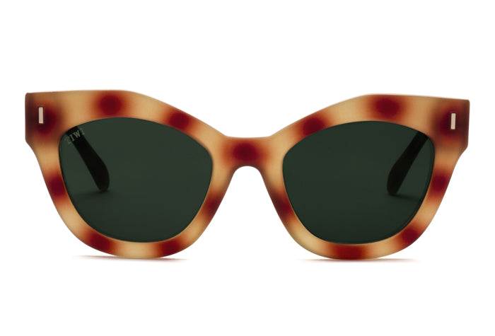 TIWI NISSA RUBBER HAVANA TORTOISE WITH CLASSIC GREEN LENSES