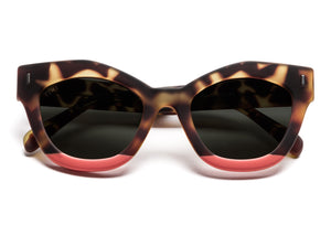 TIWI NISSA RUBBER GREEN TORTOISE/RED WITH CLASSIC BLACK LENSES