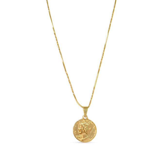 Rome coin pendant necklace