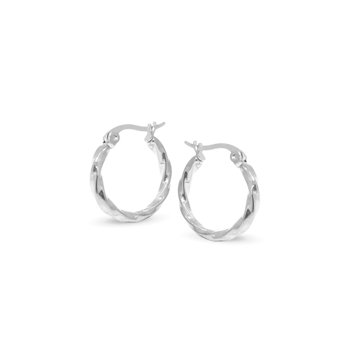pazin two sizes silver hoops