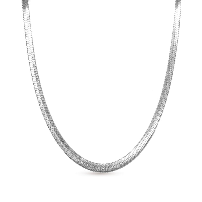 licata silver chain necklace