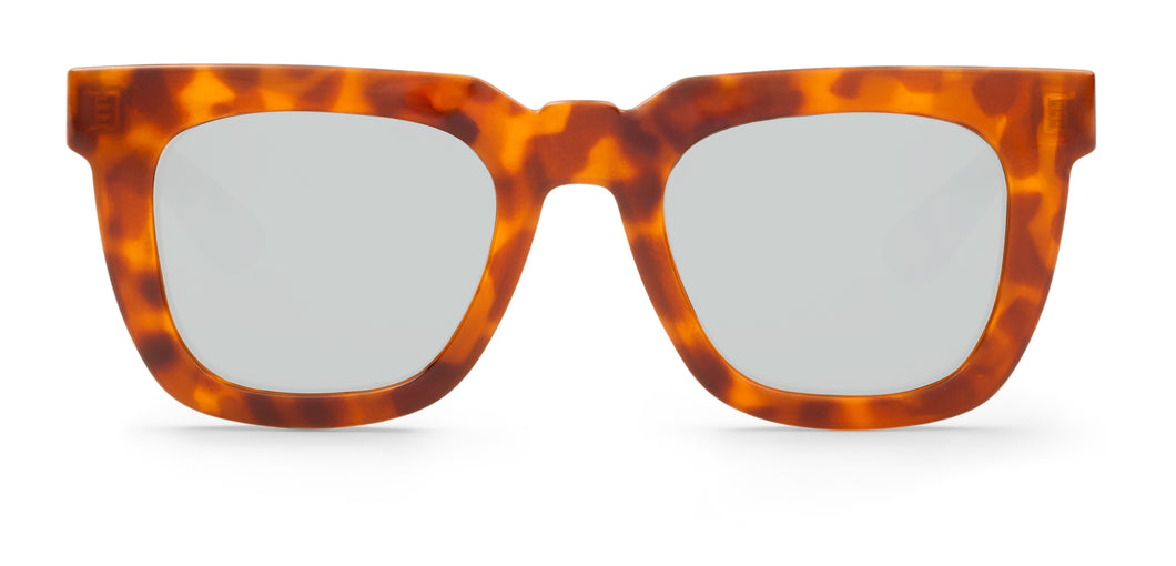 CHEETAH TORTOISE MELROSE WITH SILVER LENSES Mr Boho