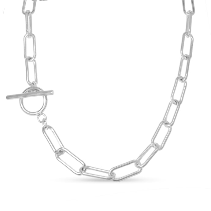 adra silver chain necklace