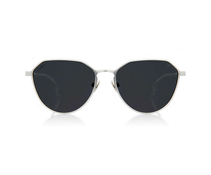 TIWI ALUMINIUM COLLETION SILVER WITH CLASSIC BLACK LENSES
