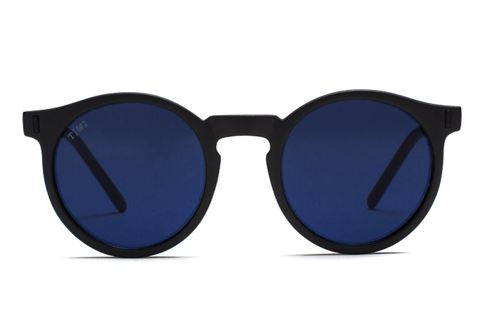 TIWI ANTIBES RUBBER BLACK WITH BLUE LENSES