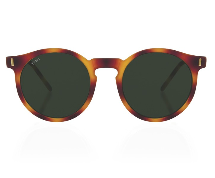 TIWI ANTIBES RUBBER HAVANA WITH GREEN LENSES