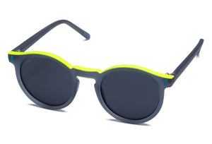 TIWI ANTIBES RUBBER BLUE / YELLOW TOPLINE WITH BLUE LENSES