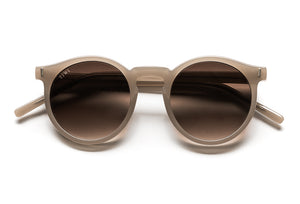 TIWI ANTIBES SHINY COCONUT WITH BROWN GRADIENT LENSES