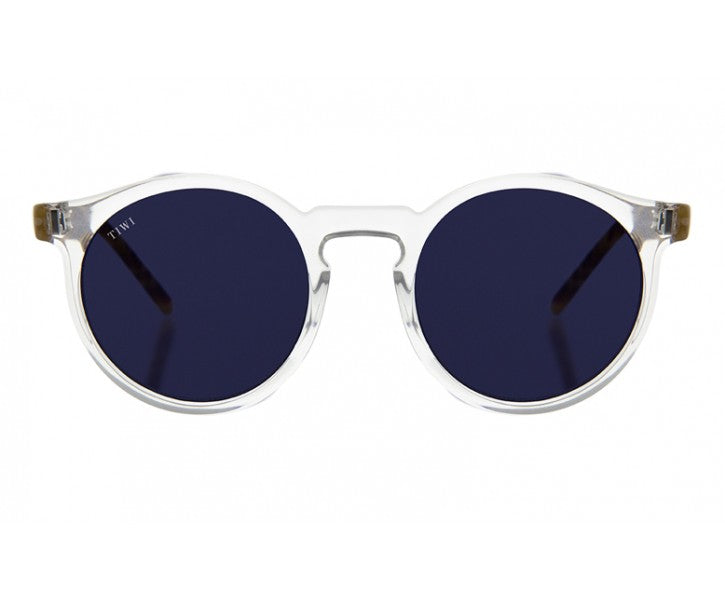 TIWI ANTIBES SHINY TRANSPARENT WITH CLASSIC BLUE LENSES