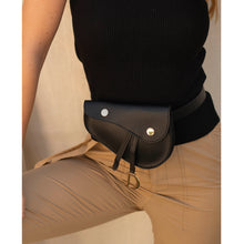 Load image into Gallery viewer, black belt bag