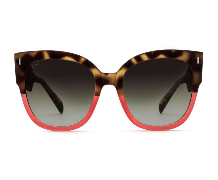 TIWI BIELA RUBBER GREEN TORTOISE/SHINY RED WITH BLACK GRADIENT LENSES