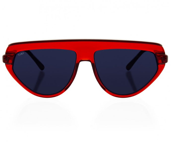 TIWI BOPP SHINY RED WITH CLASSIC BLACK LENSES