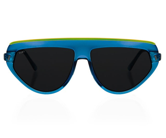 TIWI BOPP SHINY BLUE/YELOW WITH CLASSIC BLACK LENSES