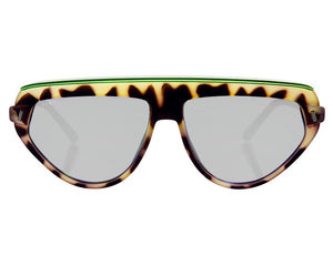 TIWI BOPP RUBBER GREEN TORTOISE/GREEN WITH MIRRORED SILVER LENSES