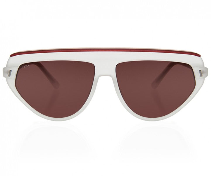 TIWI BOPP SHINY WHITE/DARK RED WITH CLASSIC BROWN LENSES