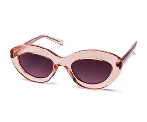 TIWI CANNET SHINY PINK WITH BURGUNDY GRADIENT LENSES