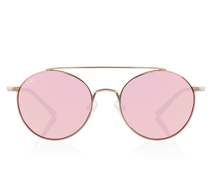 TIWI CERES GOLD WITH MIRRORED PINK LENSES