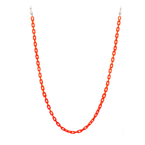 neon orange eyewear chain