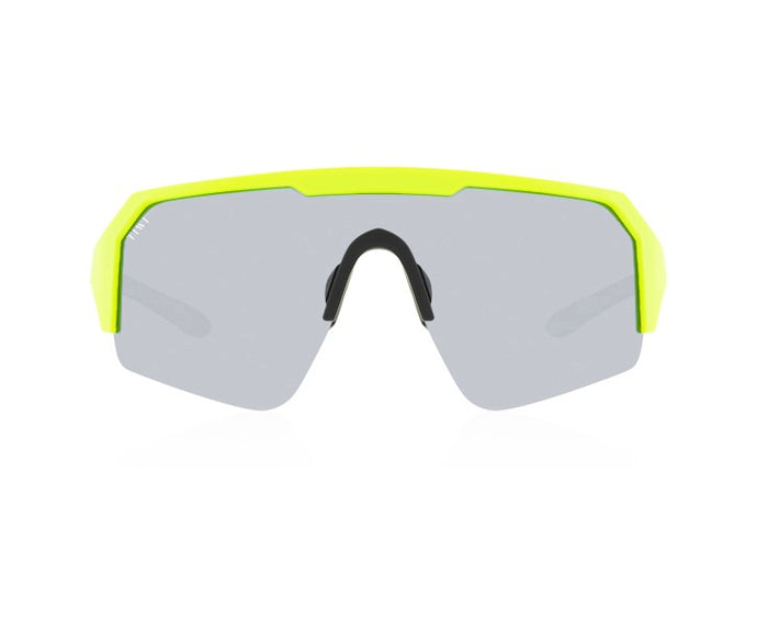 TIWI CUBE YELOW FLUOR WITH MIRRORED SILVER LENSES