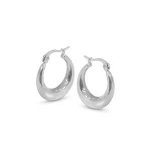 enna 23mm silver hoops
