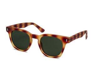 TIWI GRASSE RUBBER HAVANA TORTOISE WITH CLASSIC POLARIZED GREEN LENSES