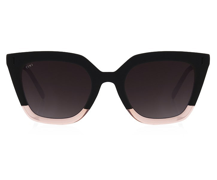 TIWI HALE RUBBER BLACK/PINK WITH BLACK LENSES