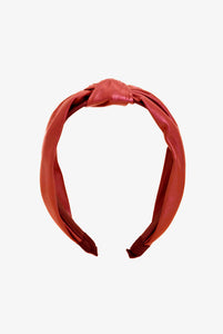 red leather headband