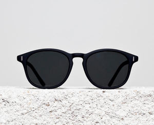 TIWI JUPITER RUBBER BLACK WITH POLARIZED BLACK LENSES