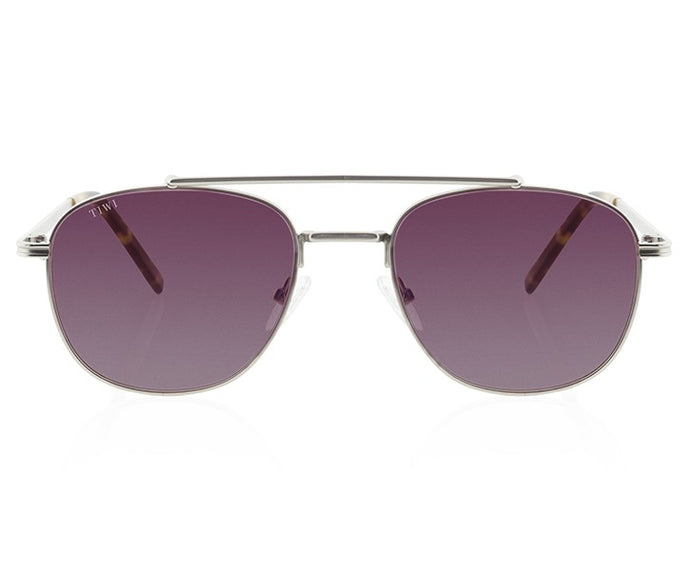 TIWI LEVY SILVER WITH GRADIENT LAVANDA LENSES