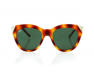 TIWI LUNE RUBBER HAVANA TORTOISE/CREAM WITH CLASSIC GREEN LENSES