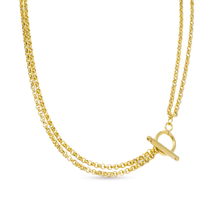 Melide double chain necklace