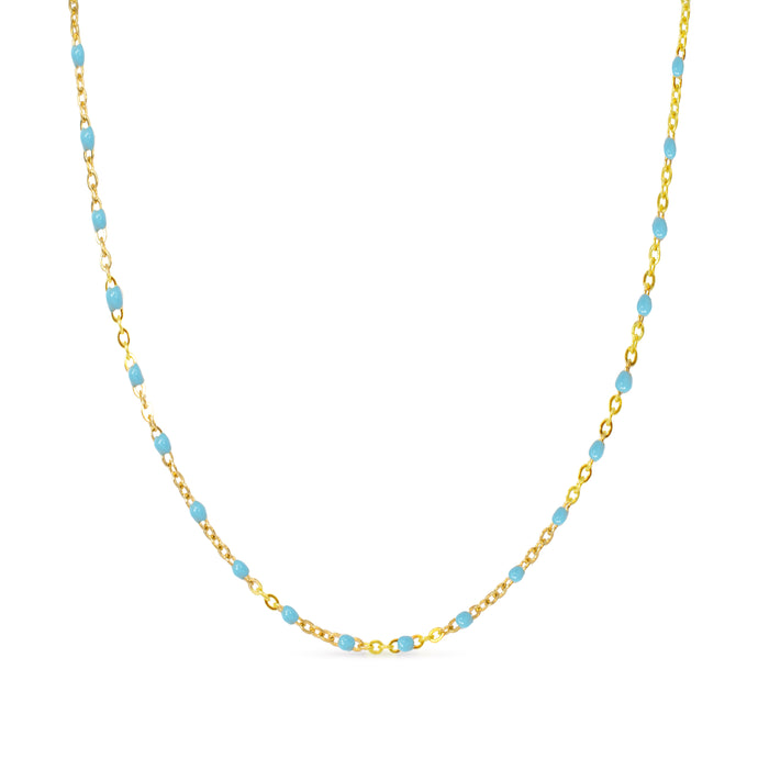 logan necklace blue