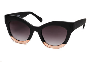 TIWI NISSA RUBBER BLACK/SHINY PINK WITH GRADIENT BLACK LENSES