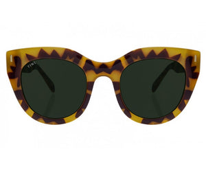 TIWI ROSETA HONEY TORTOISE WITH CLASSIC GREEN LENSES